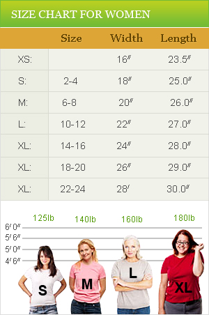 Heigth chart for adult women